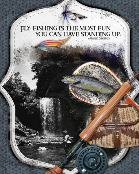 Fly Fishermen Photograph - Fly Fishing Most Fun by Retro Images Archive