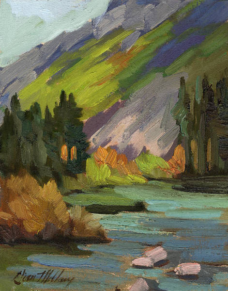 Sierra Nevada Painting - Fly Fishing Pond by Diane McClary