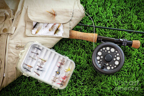 Photograph - Fly Fishing Rod And Asessories by Sandra Cunningham