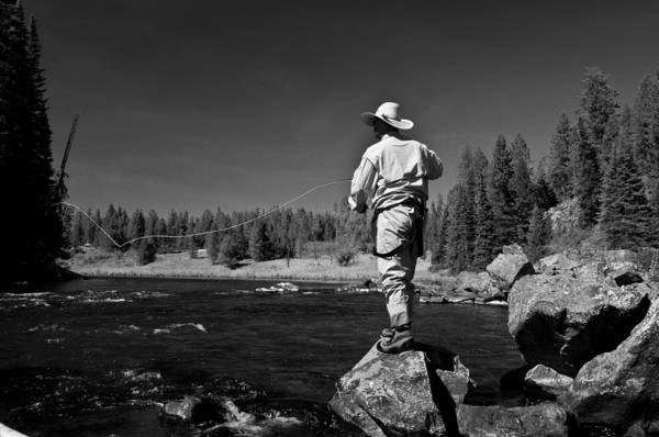 Photograph - Fly Fishing The Box by Ron White