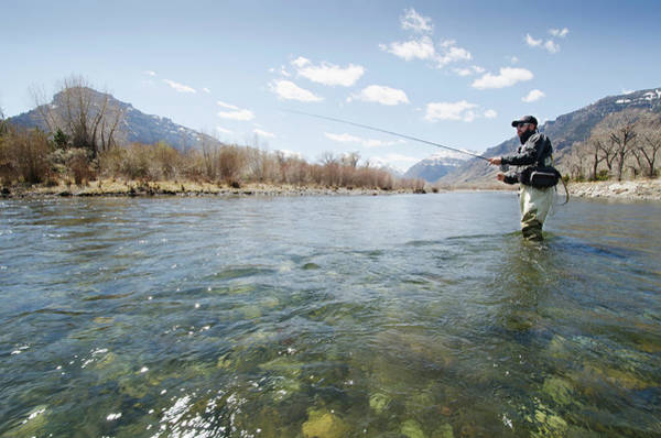 Sport Fishing Photograph - Fly Fishing, Wyoming by Nine Ok