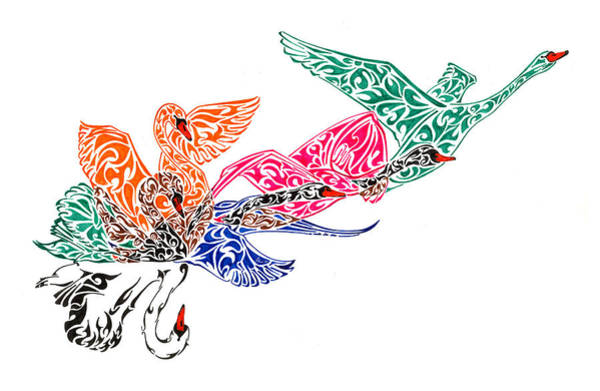 Pen And Ink Drawing Painting - Fly High by Anushree Santhosh