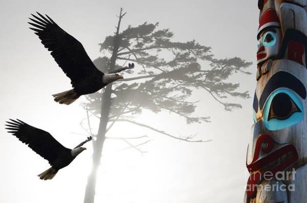 Totem Pole Wall Art - Photograph - Fly Like An Eagle  by Bob Christopher