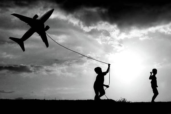 Wire Photograph - Fly My Plane by