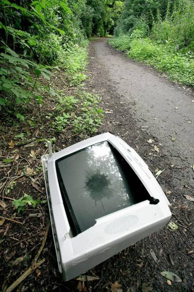 Tele Photograph - Fly-tipping by Simon Booth/science Photo Library