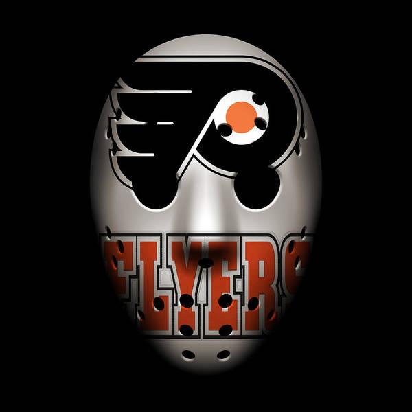 Flyers Photograph - Flyers Goalie Mask by Joe Hamilton