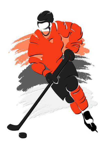 Flyers Photograph - Flyers Shadow Player2 by Joe Hamilton