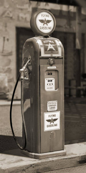 Gasoline Wall Art - Photograph - Flying A Gasoline - National Gas Pump 2 by Mike McGlothlen