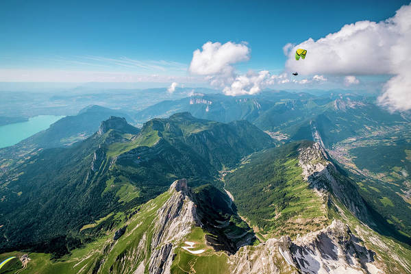 Wall Art - Photograph - Flying Above La Tournette With Francis Boehm bimbo by Tristan Shu