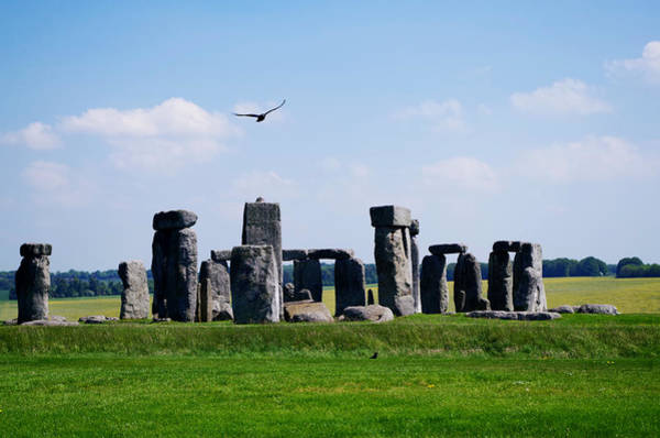Photograph - Flying At Stonehenge by Sharon Popek