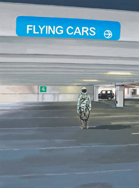 Science-fiction Wall Art - Painting - Flying Cars To The Right by Scott Listfield