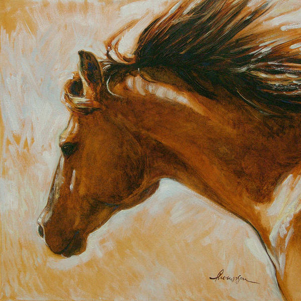Aqha Painting - Flying Duchess by Tracie Thompson