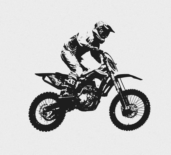Dirt Bike Photograph - Flying High by David Lee Thompson
