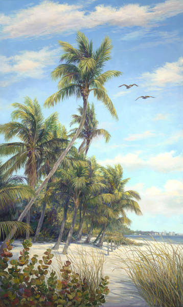 Sea Oats Painting - Flying High by Laurie Snow Hein