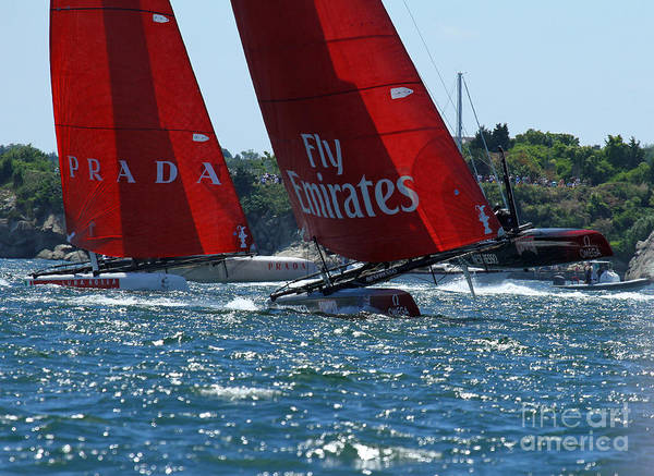 Ac45 Photograph - Flying Hulls by Butch Lombardi