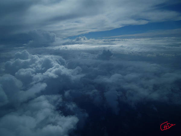 Photograph - Flying In Between The Clouds North Egypt by Colette V Hera  Guggenheim