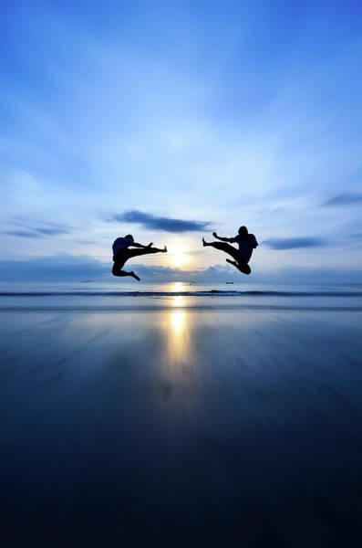 Practice Photograph - Flying Kick Vs Flying Kick, Sun Rising by Shahril Khmd