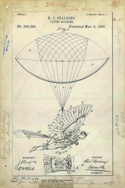 Flying Machine Patent Art Print