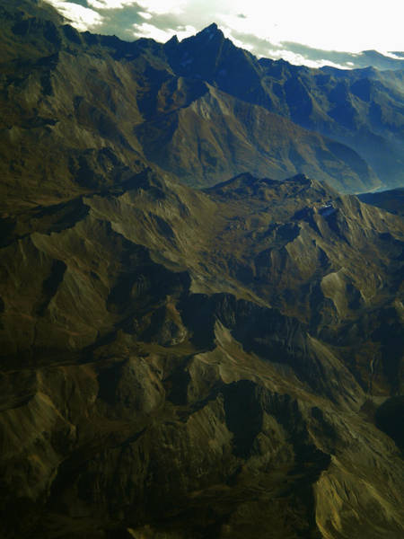 Photograph - Flying Over The Alps In France by Colette V Hera  Guggenheim