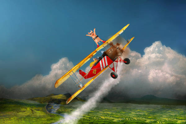 Wall Art - Photograph - Flying Pigs - Plane - Hog Wild by Mike Savad