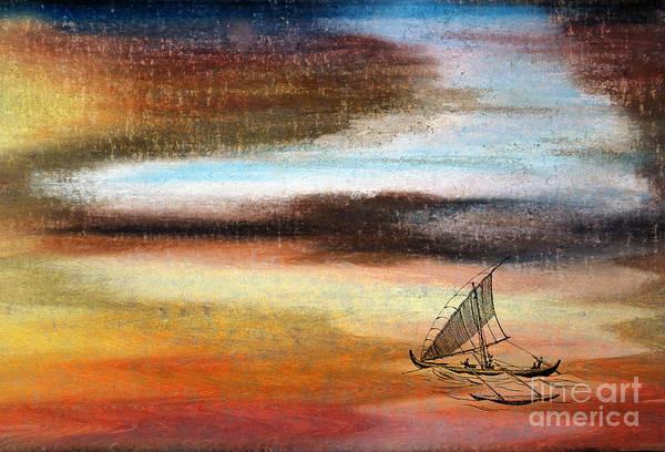 Speed Boat Digital Art - Flying Proa by R Kyllo
