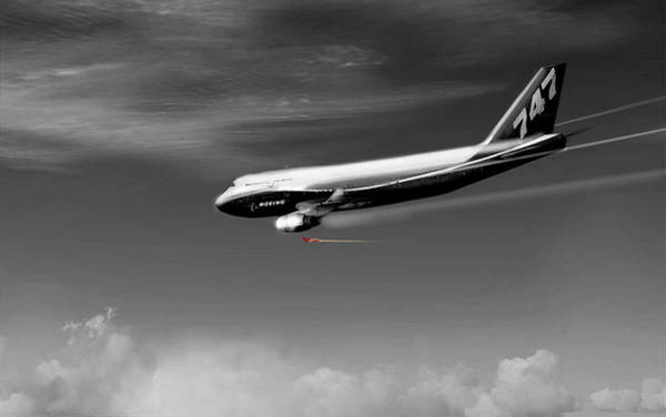Jetblue Wall Art - Digital Art - Flying Safe - Boeing 747 by Marcello Cicchini