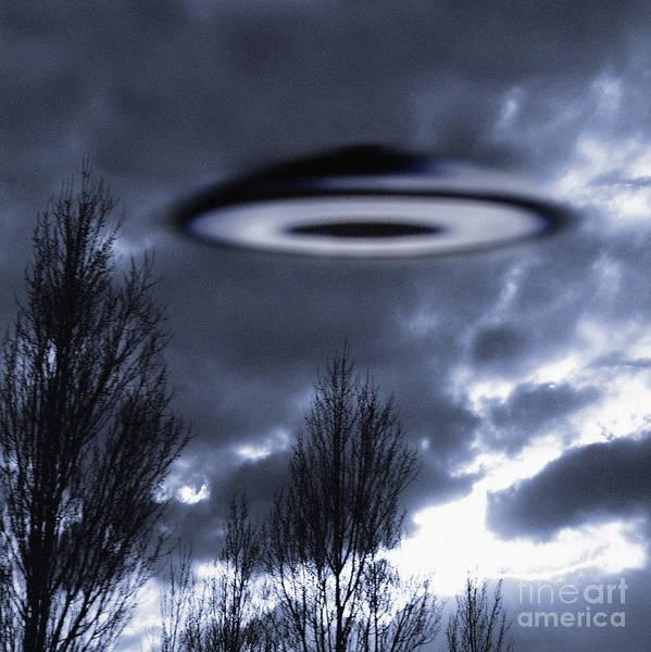 Photograph - Flying Saucer  U F O by Novastock