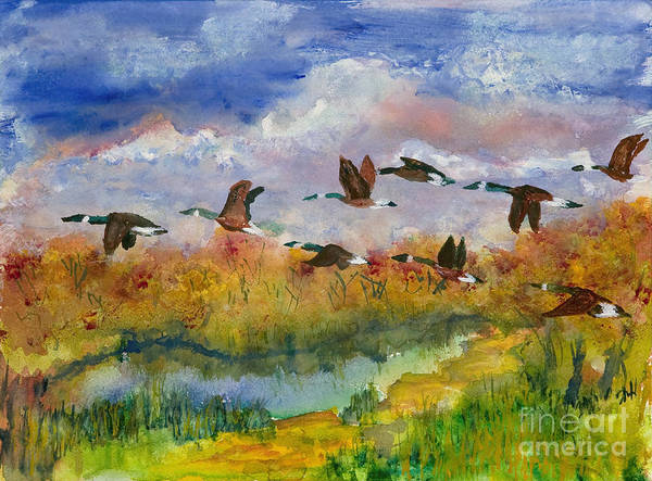Painting - Flying South by Walt Brodis