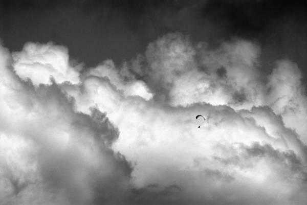 Black Kite Photograph - Flying Through The Clouds by Guido Montanes Castillo