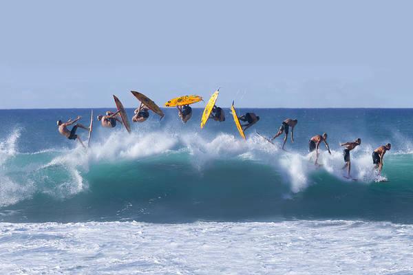 Surfing Wall Art - Photograph - Flynnstone Flip by Sean Davey