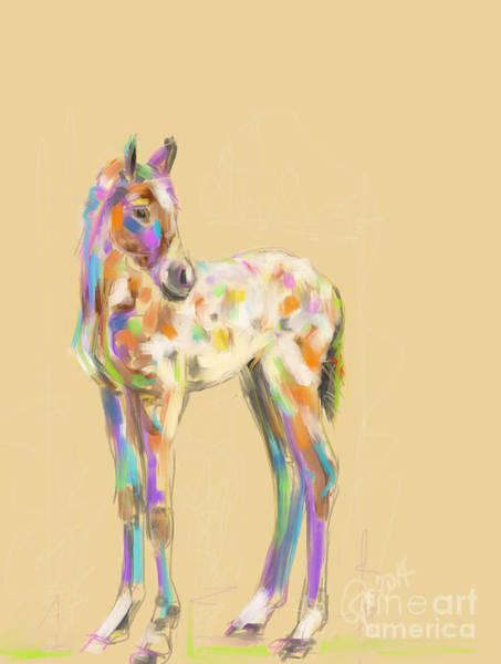 Painting - Foal Paint by Go Van Kampen