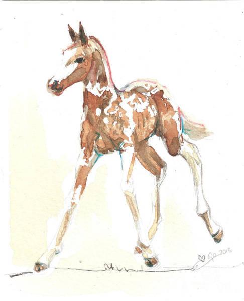 Painting - Foal Pinto by Go Van Kampen