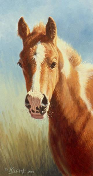 Foal Wall Art - Painting - Foal Portrait by Paul Krapf