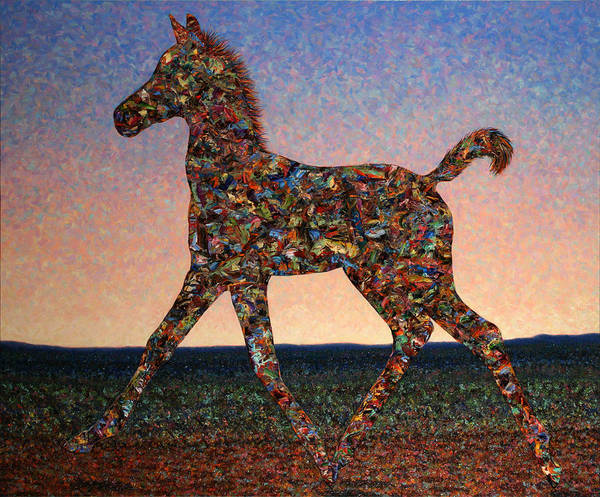 Arabians Painting - Foal Spirit by James W Johnson