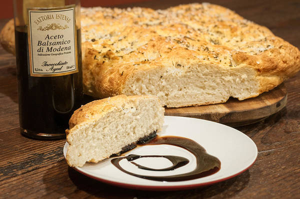 Photograph - Focaccia Bread With Balsamic Vinegar by Andy Crawford