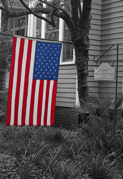 Wall Art - Photograph - Focus On The Flag by Suzanne Gaff