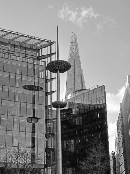 Photograph - Focus On The Shard London In Black And White by Gill Billington