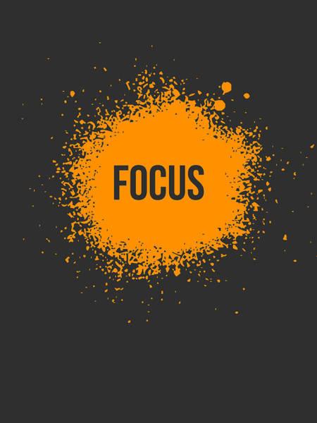 Orange Wall Art - Digital Art - Focus Splatter Poster 3 by Naxart Studio