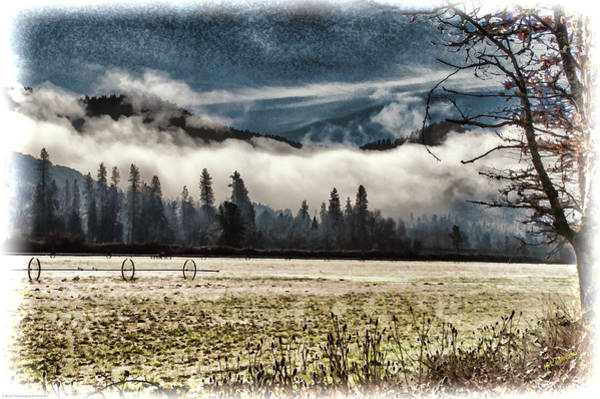 Rogue Valley Photograph - Fog Beyond The Tilled Field  by Mick Anderson