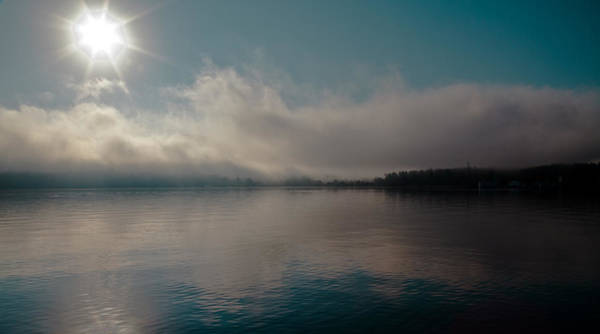 Photograph - Fog Burn Off On Lake George by David Patterson