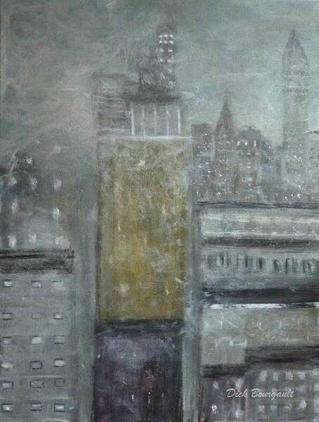 Fog Covered City Art Print