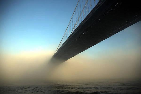 Bridge Photograph - Fog Descends On New York City by Spencer Platt