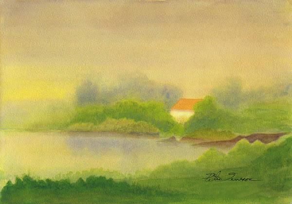 Painting - Fog House 2 by Peter Senesac
