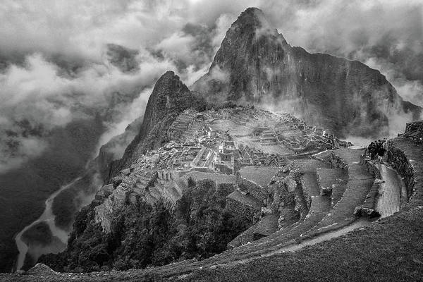 Terrace Photograph - Fog In The Machu Picchu by Richard Huang