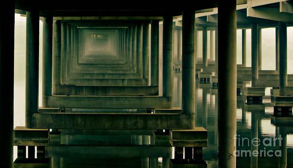 Troll Photograph - Foggy Morning Under Bridge by Robert Frederick