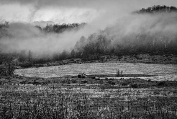 Wall Art - Photograph - Fog Lifting Off Of The Farm Field 2 by Thomas Young