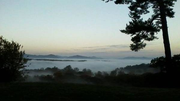 Photograph - Fog Mountain Lake by Deb Martin-Webster