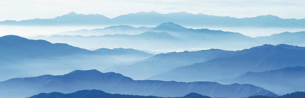 Jagged Photograph - Fog Mountains Nagano Japan by Panoramic Images