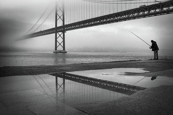 Wall Art - Photograph - Fog On The Tagus River ! by Fernando Jorge Gon?alves