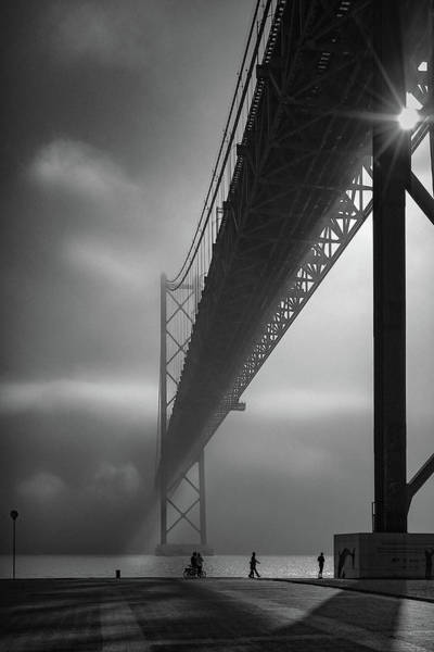 Fog On The Tejo River Art Print by Fernando Jorge Gon?alves